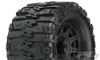 "Pro-Line Trencher HP Belted 3.8"" Pre-Mounted Truck Tires (2) (Black) (M2) w/Raid Wheels"