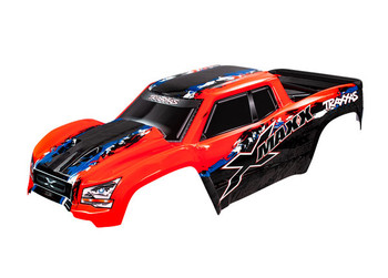 Traxxas X-Maxx Monster Truck Body, X-Maxx®, red (painted, decals applied)