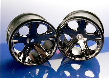 """Traxxas 12mm Hex All-Star 2.8"""" Rear Wheels (2) (Black Chrome) (TRA3772A)"""