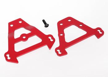 Traxxas Aluminum Bulkhead Tie Bars (Red) (TRA5323R)
