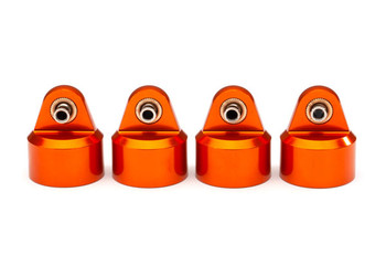 Traxxas GT-Maxx Aluminum Shock Caps (Orange) (4) (TRA8964T)
