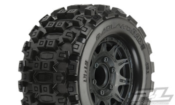 "Pro-Line Badlands MX28 2.8"" Pre-Mounted Tires w/Raid 6x30 Wheels (2) (M2) (PRO10125-10)"