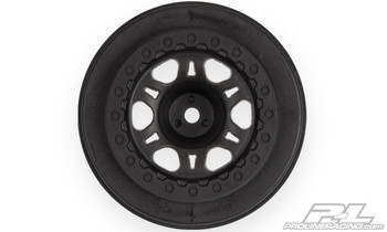 Pro-Line Split Six One-Piece Short Course Rear Wheels (Black) (2) (PRO2721-02)