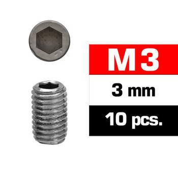 Ultimate Racing M3X3MM Set Screws (10 PCS)