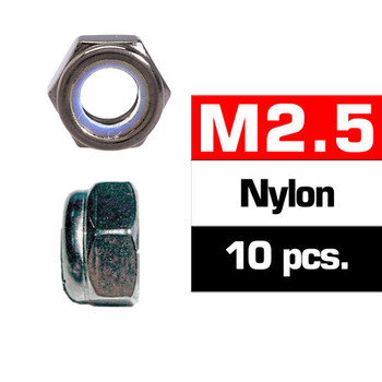 Ultimate Racing M2.5 Nylon Locknut Set (10 PCS)