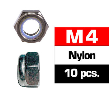 Ultimate Racing M4 Nylon Locknut Set (10 PCS)