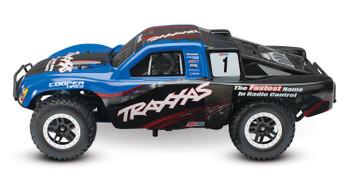 Traxxas Nitro Slash 3.3 1/10 2WD RTR SC Truck (Blue) w/TQ 2.4GHz Radio, TSM, Battery & DC Charger