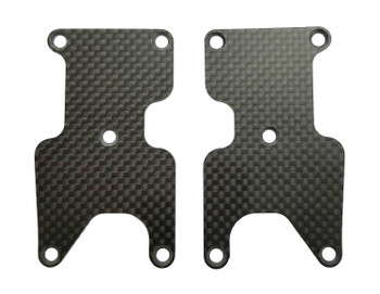 Team Associated RC8 B3.2 1.2mm Carbon Fiber Rear Suspension Arm Inserts (2)