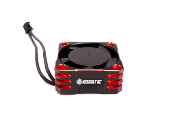Assault RC Aluminum 25x25mm Ball Bearing High Speed ESC Fan (Red) (ARC27225)