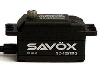 "Savox SC-1251MG Black Edition Low Profile Digital ""High Speed"" Metal Gear Servo (SAVSC1251MG-BE)"