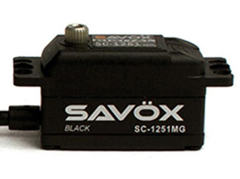 "Savox SC-1251MG Black Edition Low Profile Digital ""High Speed"" Metal Gear Servo (SAVSC1251MG-BE)"