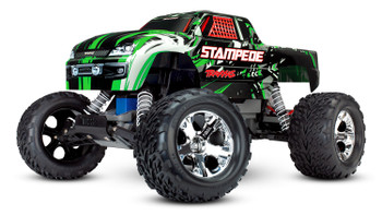 Traxxas Stampede 1/10 RTR Monster Truck (Green) w/XL-5 ESC, TQi 2.4GHz Radio, Battery & DC Charger