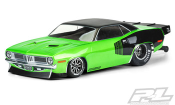 Pro-Line 1972 Plymouth Barracuda Short Course No Prep Drag Racing Body (Clear)