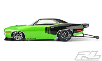 Pro-Line 1972 Plymouth Barracuda Short Course No Prep Drag Racing Body (Clear) (PRO3550-00)