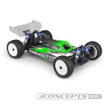 "JConcepts RC10 B74 ""F2"" Body w/S-Type Wing Light Weight (Clear) (JCO0397L)"