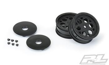 """Pro-Line Showtime 2.2"""" Sprint Car Front Sprint Wheels (Black) w/12mm Hex (PRO2782-03)"""