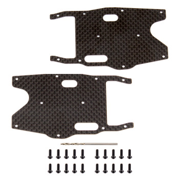 Team Associated RC8B3.1 Factory Team Graphite Rear Arm Stiffeners (ASC81419)