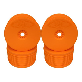 DE Racing Speedline Plus Truggy Wheels for 1/8 Truggy / ORANGE / 4pcs (DER-PT4-80)