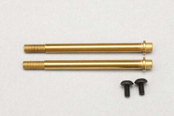 Yokomo YZ-4 SF2 X30 Shock Shaft w/Titanium Coating (Front) (2) (YOKS4-S2ST)