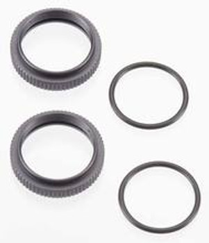 TEKNO Aluminum Shock Adjustment Nut Set (Gun Metal) (2)