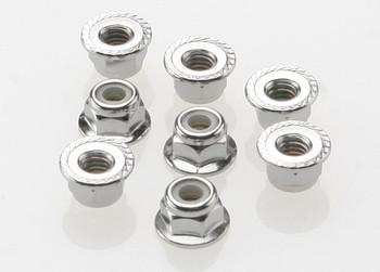 Traxxas 4mm Steel Flanged Serrated Nylon Locknut (8) (TRA3647)
