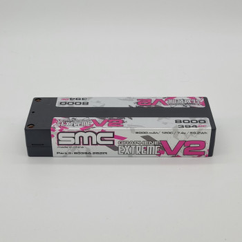 SMC True Spec Extreme Graphene V2 7.4V 8000mAh 120C hardcase (5mm Bullet) (80394-2S2PI)