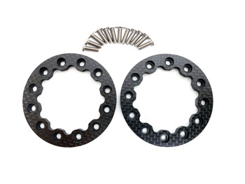 Assault RC Revolver Series Carbon Fiber Beadlock Rings (Split Six)