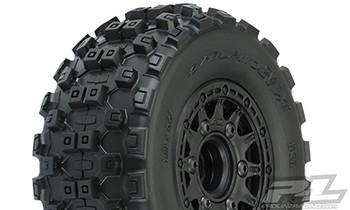 Pro-Line Badlands MX SC Tires w/Raid Wheels (Black) (2) (Slash Front) (M2) w/12mm Hex (PRO10156-10)
