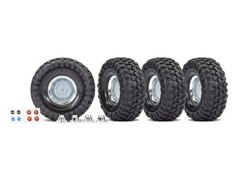"Traxxas 1.9"" Replica Rally Wheels w/ Canyon Trail Tires For TRX4 (TRA8166X)"