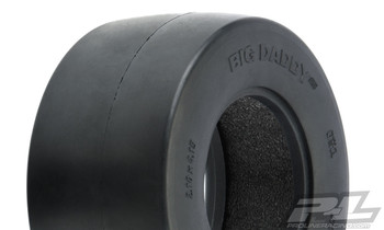 Pro-Line Big Daddy Wide Drag Slick 2.2/3.0 SCT Rear Tires (2) (Clay)