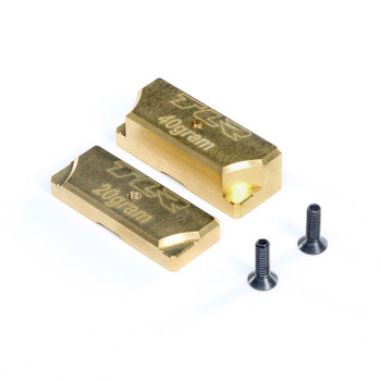 Team Losi Racing 8IGHT-X Brass Ballast Chassis Weight Set (20g & 40g)
