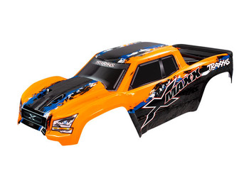 Traxxas X-Maxx Monster Body, orange (painted, decals applied)