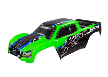 Traxxas X-Maxx Monster Body, Green (painted, decals applied) (TRA7811G)