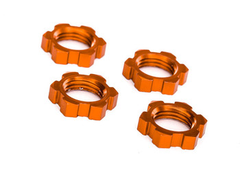 Traxxas 17mm Splined Wheel Nuts (Orange) (4)