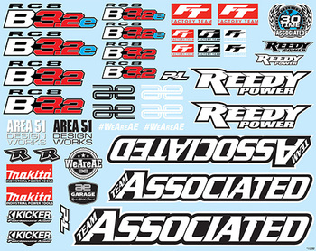 Team Associated RC8B3.2 Decal Sheet