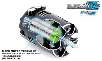 Muchmore FLETA ZX V2 13.5T ER Spec Brushless Motor (tuned by J. Pillars)