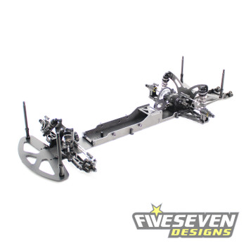 "Five Seven Designs Arrow Drag Car with Wheelie Bar w/10"" Wheelie Bar & 4mm Chassis and Rear Tower"