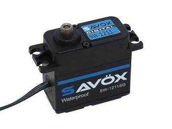 Savox SW1211SG-BE - Waterproof High Voltage Digital Servo 0.08sec / 347.2oz @ 7.4V - Black Edition (SAVSW-1211SGBLK)