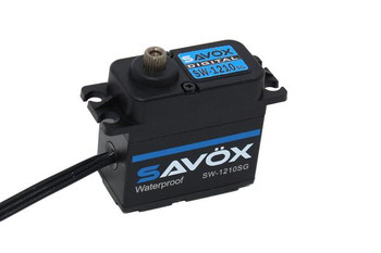 Savox SW1210SG-BE - Waterproof High Voltage Digital Servo 0.13sec / 444.4oz @ 7.4V - Black Edition