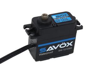 Savox SW1212SG - Waterproof, High Torque, High Voltage Coreless Digital Servo, 0.14 sec / 638oz @ 7.4V (Black Edition) (SAVSW-1212SGBLK)