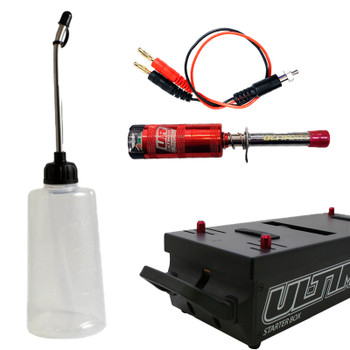 Ultimate Racing Nitro Starter Combo (Starter Box, Glow Igniter, Fuel Bottle)