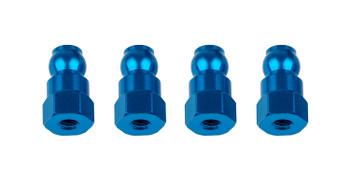 Team Associated RC10B74 10mm Shock Bushing (Blue) (4) (ASC92159)