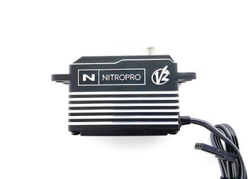 NitroPro Low Profile Metal Case Brushless Servo (25T)