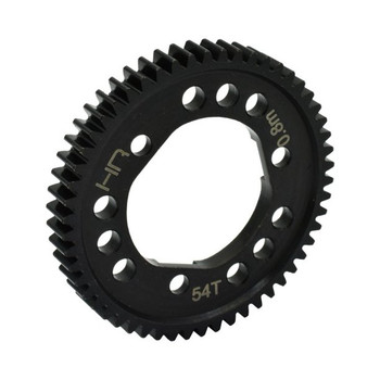 HOT-RACING Steel Center Diff Spur Gear 54T 32P 0.8m (HRSSLF254D)