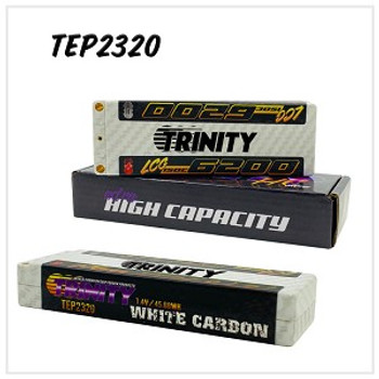 Trinity White Carbon 2S 7.4V LCG 6200MAH 150C STICK W/5MM BULLETS