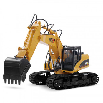 Huina 1550 1/14Th Scale RC Excavator 2.4G 15ch w/Die Cast Bucket
