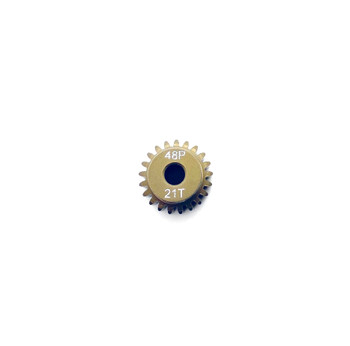 Assault RC Precision Aluminum Hardened 48P Pinion Gear (21T) (3mm Bore)