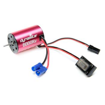 Dynamite Brushless Motor/ESC 2-in-1 Combo, 6000Kv: Mini-T 2.0