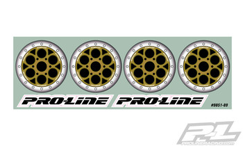 Pro-Line Showtime Bi-Metallic (Silver/Gold) Wheel Dots for Sprint Car Dish Wheels (PRO9851-00)