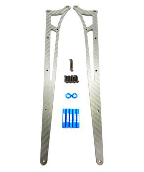 Assault RC Carbon Fiber Adjustable Street Eliminator Wheelie Bar (DR10) (Blue)